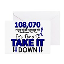 Take Down Colon Cancer 4 Greeting Cards (Pk of 20)