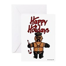 leatherdaddy gingerbread Greeting Cards (Pk of 10)