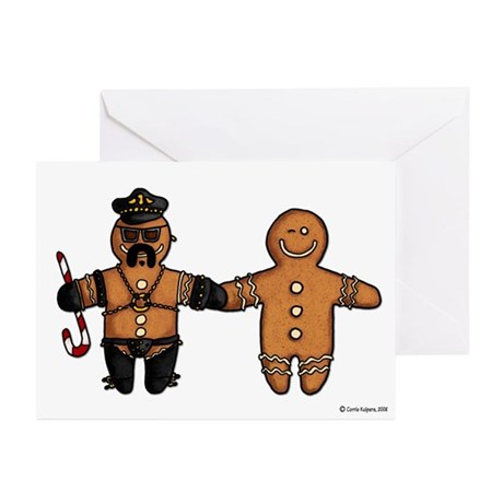 gay gingerbread couple Greeting Cards (Pk of 10)
