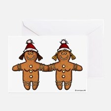 lesbian gingerbreads Greeting Cards (Pk of 10)