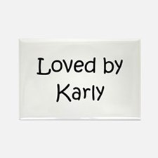 Cute Karly Rectangle Magnet