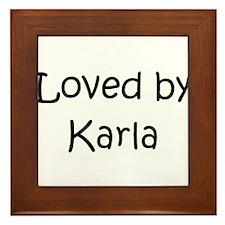 Cute Karla Framed Tile