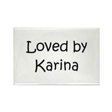 Cute Karina Rectangle Magnet