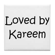 Cute Kareem Tile Coaster