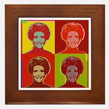 Nancy Reagan Framed Tile