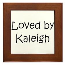 Cute Kaleigh Framed Tile