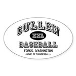 Cullen Baseball Oval Sticker (10 pk)