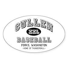 Cullen Baseball Oval Sticker