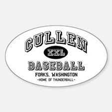 Cullen Baseball Oval Decal