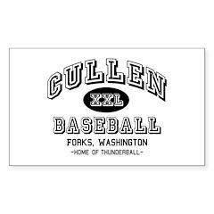 Cullen Baseball Rectangle Decal