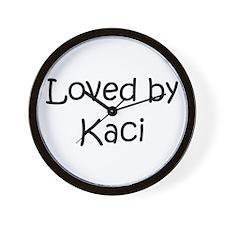 Funny Kacie Wall Clock