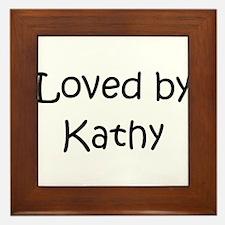 Funny Kathy Framed Tile