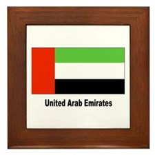 United Arab Emirates Flag Framed Tile