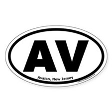 "Avalon, New Jersey ""AV"" Oval Decal"