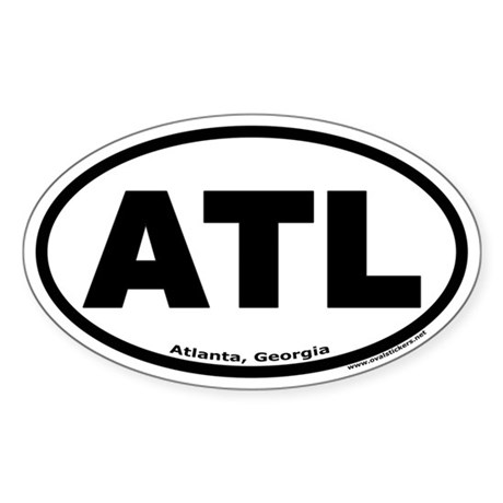 "Atlanta, Georgia ""ATL"" Oval Sticker"