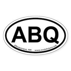 Albuquerque, New Mexico Oval Car Decal