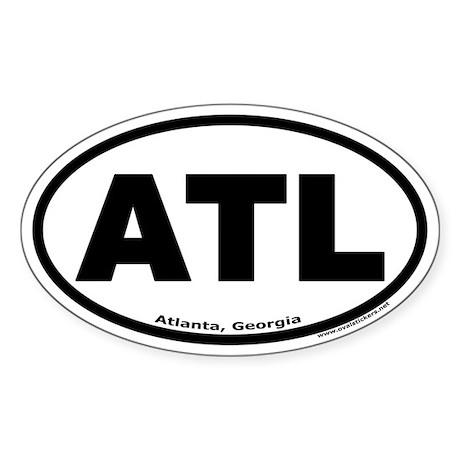 "Atlanta, Georgia ""ATL"" Oval Sticker"