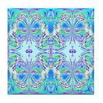BLUE BUTTERFLIES Tile Coaster