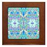 BLUE BUTTERFLIES Framed Tile