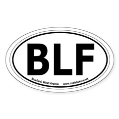 Bluefield, West Virginia Oval Car Decal