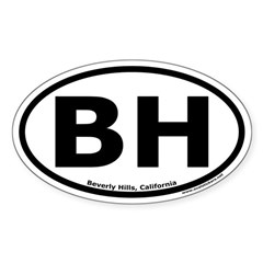 Beverly Hills, California Oval Decal