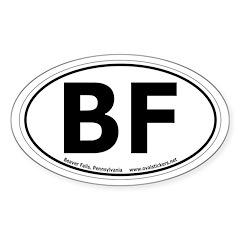 Beaver Falls, Pennsylvania Oval Car Decal