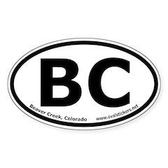 Beaver Creek, Colorado Oval Bumper Decal