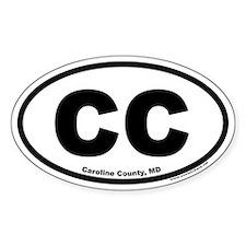 Caroline County, Maryland CC Oval Decal
