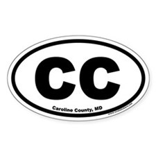 Caroline County, Maryland CC Oval Decal