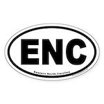 Eastern North Carolina ENC Euro Oval Stickers