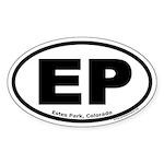 Estes Park, Colorado EP Oval Sticker