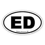 Edisto Beach, SC Oval Sticker