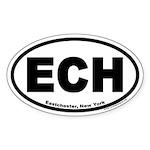 ECH Eastchester, New York Oval Sticker