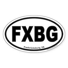 FXBG Fredericksburg, VA Euro Oval Decal