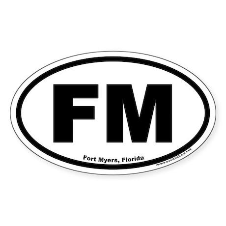 Fort Myers, Florida FM Oval Sticker
