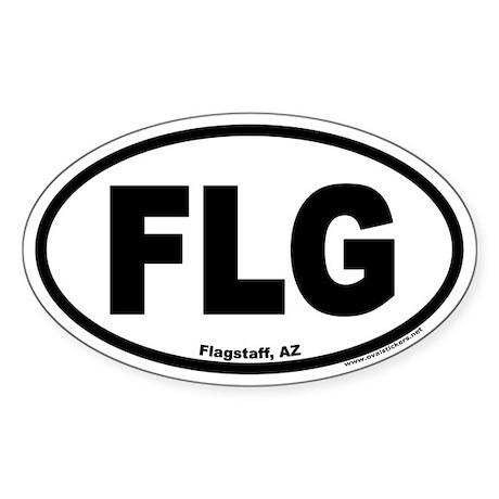 Flagstaff, Arizona FLG Oval Sticker
