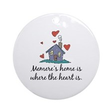 Memere's Home is Where the Heart Is Ornament (Roun