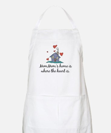 Mom Mom's Home is Where the Heart Is BBQ Apron