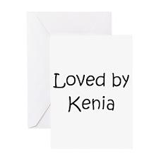 Cute Kenia Greeting Card