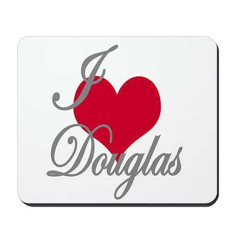 I love (heart) Douglas Mousepad