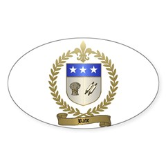 RATE Family Crest Oval Decal