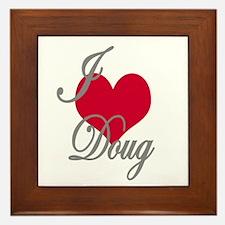 I love (heart) Doug Framed Tile