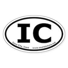 Iowa City, Iowa Oval Car Decal