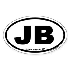 "Jones Beach, NY ""JB"" Euro Style Oval Decal"