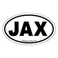 "Jacksonville, FL ""JAX"" Euro Style Oval Decal"