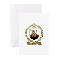 RICARD Family Crest Greeting Cards (Pk of 10)