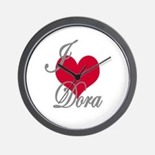 I love (heart) Dora Wall Clock