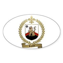 RICARD Family Crest Oval Decal