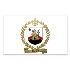 RICARD Family Crest Rectangle Decal