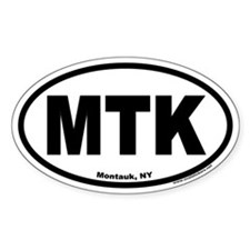 Montauk, NY MTK Euro Style Oval Decal
